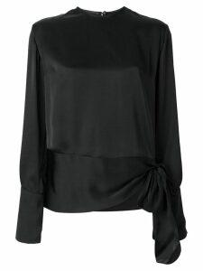 Stella McCartney tie hem blouse - Black