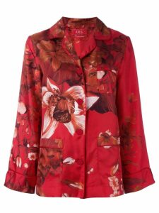 F.R.S For Restless Sleepers floral print pyjama blouse - Red