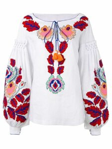 Yuliya Magdych 'Eden Tree' embroidered blouse - White