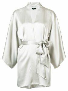 Voz tie-waist kimono top - Grey