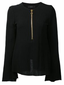 Ellery zipped neck blouse - Black