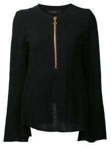 Ellery zipped neck blouse - Black