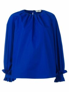 Fendi ruffled oversized blouse - Blue