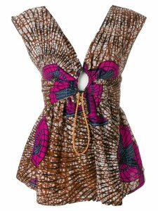Stella McCartney printed V-neck blouse - Multicolour