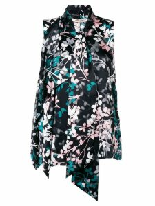 Roberto Cavalli floral print blouse - Black