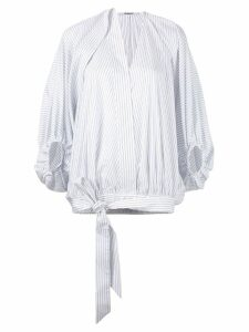 Chalayan stripe tied blouse - White