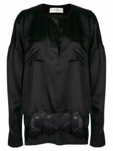 Faith Connexion lace hem blouse - Black
