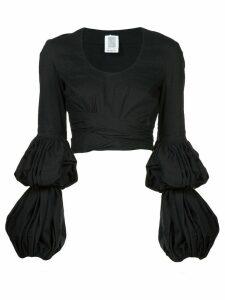 Rosie Assoulin puff sleeve wrap blouse - Black