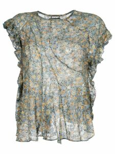 Isabel Marant floral ruffled blouse - Multicolour