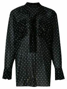Alexandre Vauthier polka dot lace-up blouse - Black