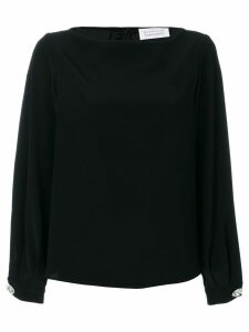 Gianluca Capannolo gathered cuffs longsleeved blouse - Black
