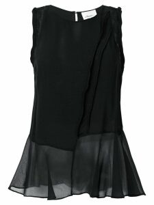 3.1 Phillip Lim sheer asymmetric hem blouse - Black