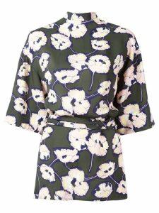 Marni Whisper print open back blouse - Green