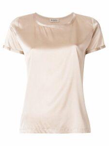 Blanca metallic short-sleeve top - Neutrals