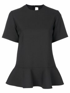Victoria Victoria Beckham short-sleeve peplum blouse - Black