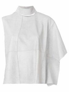 Olsthoorn Vanderwilt standing collar asymmetric blouse - Grey