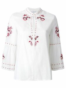 Vilshenko embroidered floral blouse - Neutrals