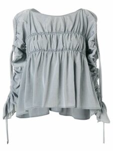 Carven gathered detail blouse - Grey