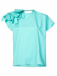 Delpozo petals detail blouse - Blue