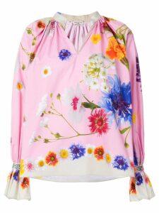 Natasha Zinko floral print blouse - Pink