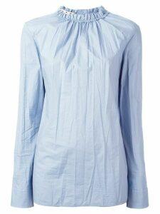 Marni ruffle collar poplin top - Blue