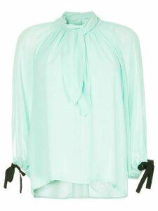 Eudon Choi draped front blouse - Green