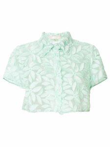 Mantu floral lace blouse - Green