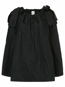 Maison Rabih Kayrouz paper bag flared blouse with bow details - Black