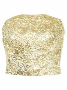 Bambah crinkle tube top - Metallic