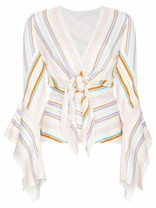 Peter Pilotto Stripe Tie Front Top - White