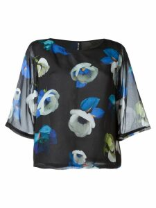 Minimarket Suffix floral silk blouse - Black