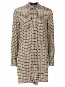 Rokh houndstooth print blouse - Brown