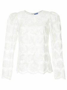 Macgraw floral embroidered blouse - White