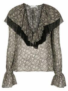 Philosophy Di Lorenzo Serafini floral printed blouse - Black