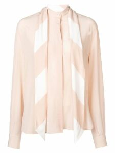 Givenchy neck-tied long sleeve blouse - NEUTRALS