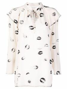 Sonia Rykiel lip print blouse - Neutrals