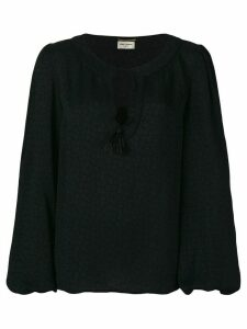 Saint Laurent tassel gypsy blouse - Black