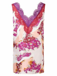 Emilio Pucci lace trimming floral blouse - Multicolour