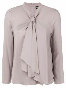 Giorgio Armani pussy bow blouse - PINK