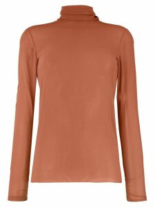 Nude turtle neck blouse - Pink