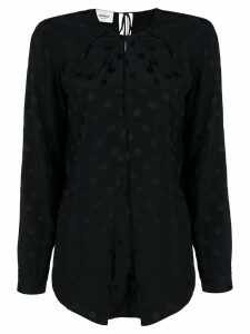 Dondup polka-dot jacquard blouse - Black