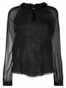 Giorgio Armani long-sleeved blouse - Black
