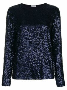 P.A.R.O.S.H. sequined long sleeve top - Blue