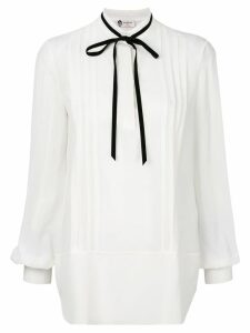 LANVIN tie neck blouse - White