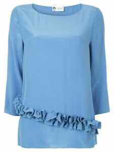 LANVIN ruffle detail blouse - Blue