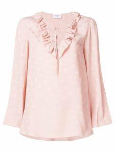 Dondup polka dot frill blouse - Pink