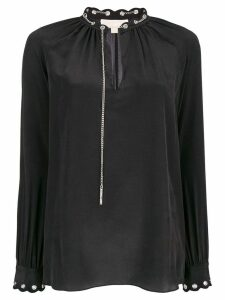 Michael Michael Kors chain embellished blouse - Black