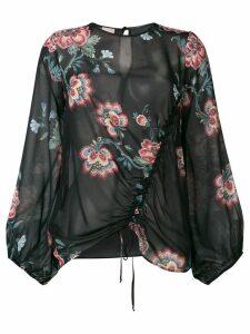 Pinko Ancora floral blouse - Black