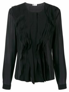 LANVIN ruffle-trim blouse - Black