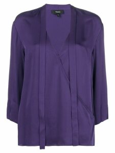 Theory v-neck wrap style blouse - PURPLE